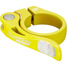 Reverse Long Life Saddle Clamp 34,9mm, yellow